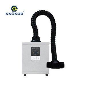 Image 4 - Mini 150w laser absorvente de fumaça botão ajuste extrator fumaça solda fes150 máquina purificador ar extrator poeira do prego
