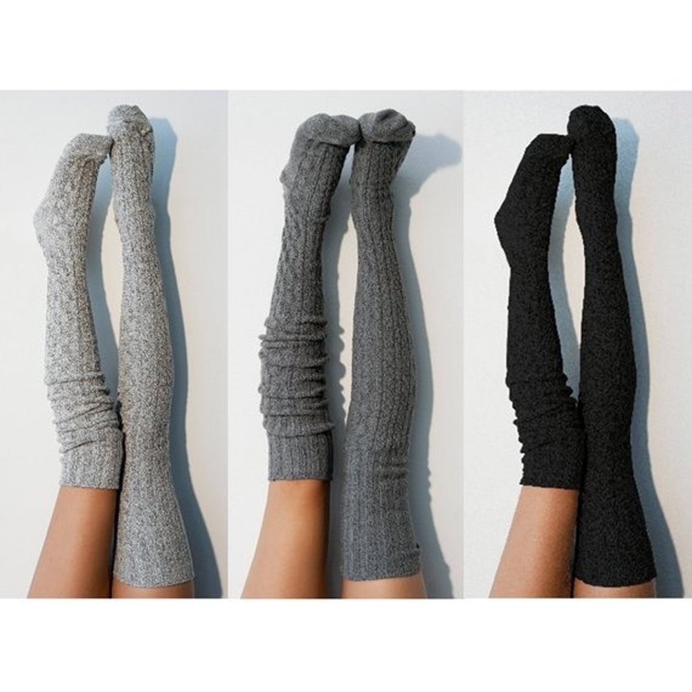 Women Over Knee Sockings Fashion Female Sexy Stockings Warm Long Boot Knit Thigh-High