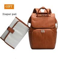 Pu Leather Diaper Bag Backpack Women For Moms Baby Bag Maternity For Baby Care Nappy Bag Travel Stroller Send Free 1Piar Hooks