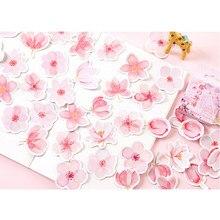 45 unids/pack Kawaii Jepanese historia cereza flores decoración Scrapbooking diario pegatinas para niños 3D pegatinas