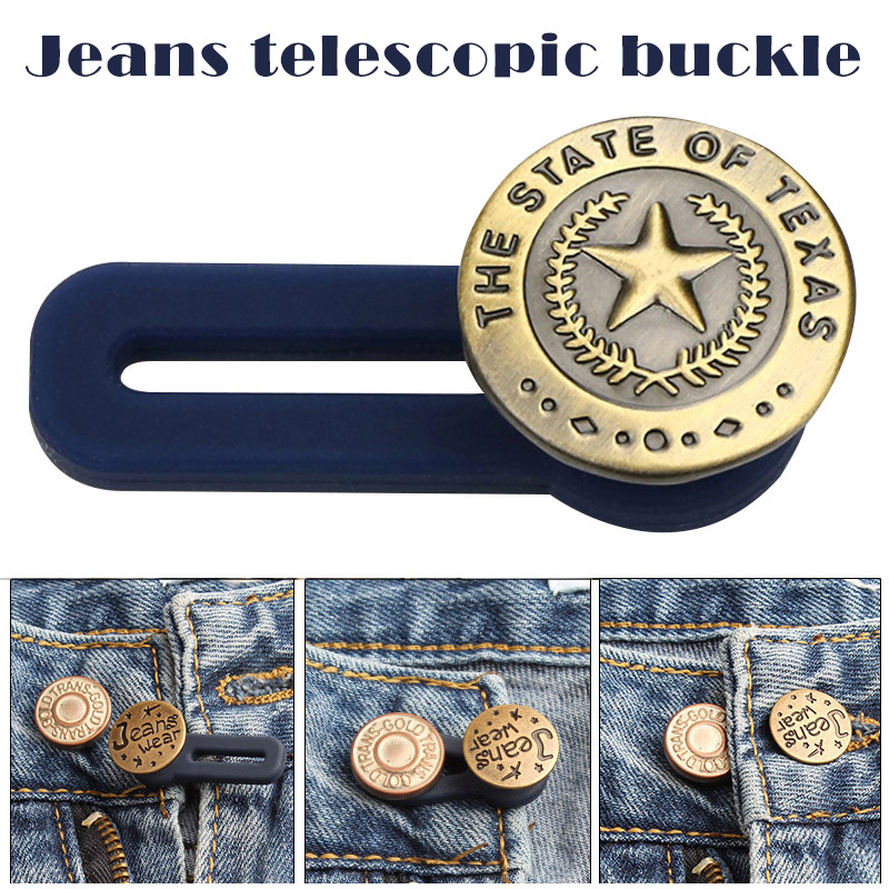 10pcs Jeans Retractable Button Adjustable Detachable Extended Button For Clothing Jeans -MX8