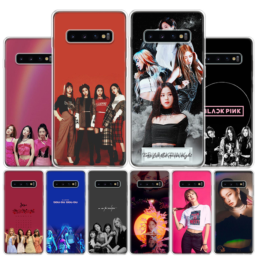 BLACK PINK <font><b>kpop</b></font> Rose Phone Case For <font><b>Samsung</b></font> Galaxy S10 S20 Ultra Note 10 9 8 S10E S9 S8 S7 Edge J4 <font><b>J6</b></font> J8 <font><b>Plus</b></font> + Cover <font><b>Coque</b></font> image