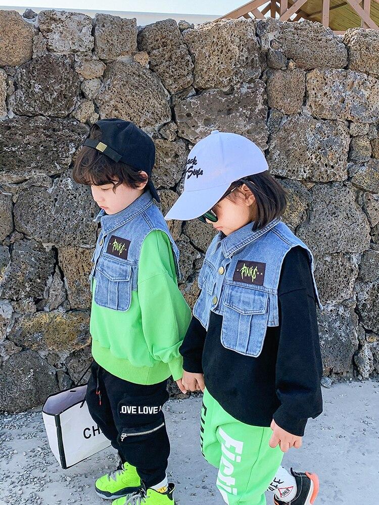 Boys Western Style Sweater Children Tops Tide Paragraph Children Baby 2020 Spring New  Boy Korean Version of Spring 3