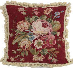 Gorgeous needlepoint pillows Antique Needlepoint Throw Fabric Cover Cushion knot Cover Simple Pillow Case