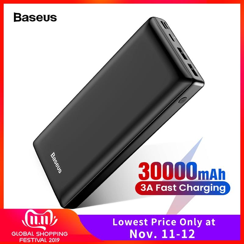 Baseus 30000mAh Power Bank USB C PD Fast 30000 mAh Powerbank For Xiaomi mi iPhone 11 Pro Max Portable External Battery Charger