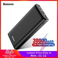Baseus 30000mAh Power Bank USB C Fast 30000 mAh Powerbank For Xiaomi mi iPhone 11 Huawei Phone Portable External Battery Charger