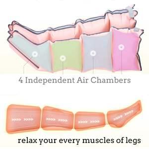 Image 4 - 3 modi Luftkammern Bein Compression Massager Vibration Infrarot Therapie Arm Taille Pneumatische Air Wraps Entspannen Schmerzen Relief Massage
