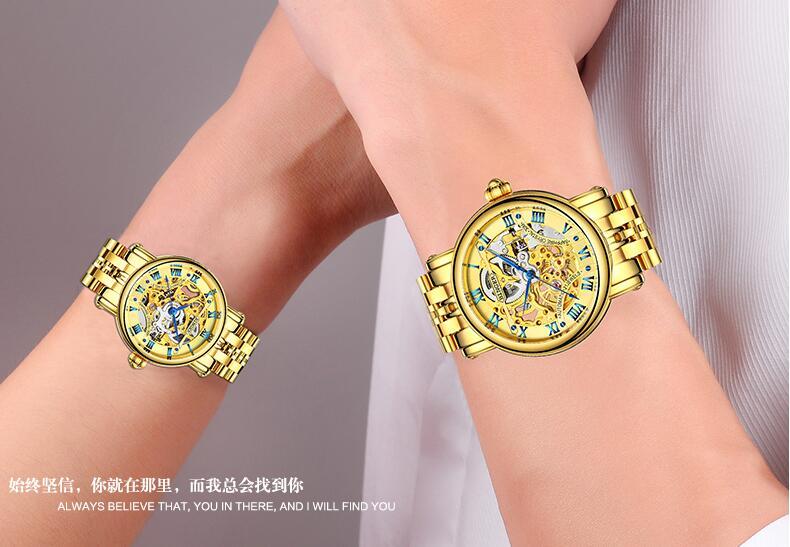 Homens Top Marca de Luxo Relógio À