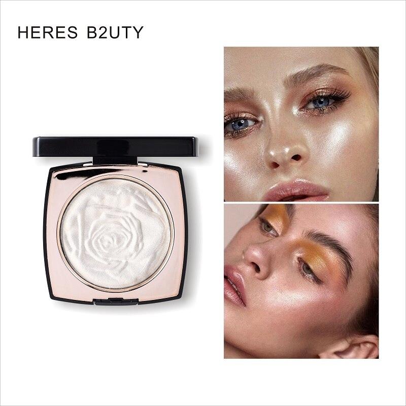HERES B2UTY Schimmer Highlighter Pulver Palette Gesicht Konturierung Make-Up Highlight Gesicht Bronzer Highlighter Erhellen Haut 3 Farben