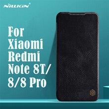 Voor Xiaomi Redmi Note 8T Note 8 Pro Flip Case Nillkin Qin Vintage Leather Flip Cover Card Pocket Case voor Redmi Note8 Telefoon Tassen