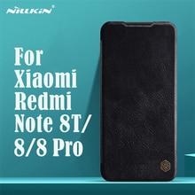 עבור Xiaomi Redmi הערה Note 8T Note 8 Pro Flip מקרה Nillkin צ ין בציר עור Flip כיסוי כרטיס כיס ארנק מקרה Redmi note8 טלפון שקיות