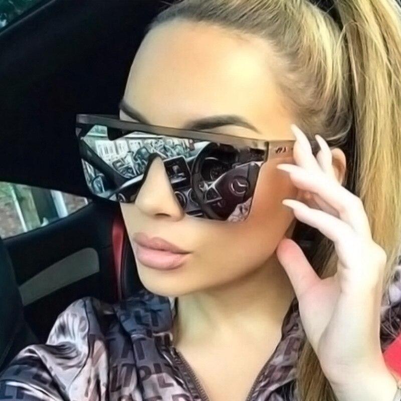 Mirror Lens Vintage Sunglasses Women 2019 Fashion Sunglasses Men Square Sun Glasses For Women Luxury Oculos De Sol