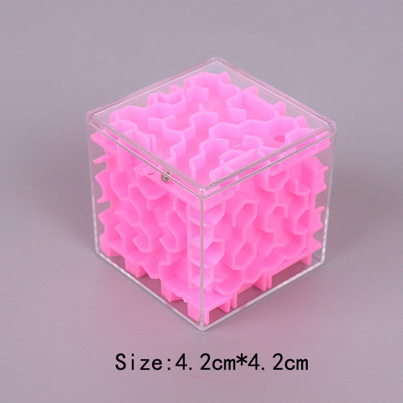 TOBEFU 3D Maze Magic Cube Transparent Six-sided Puzzle Speed Cube Rolling Ball Game Cubos Maze Toys for Children Educational 15