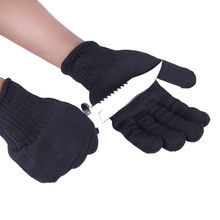 1/Pair Black Working Safety Gloves Cut-Resistant Protective Stainless Steel Wire Butcher Anti-Cutting Gloves(Hong Kong,China)