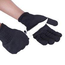 1/paar Zwart Werken Veiligheidshandschoenen Snijbestendige Beschermende Roestvrij Staaldraad Butcher Anti Snijden Handschoenen