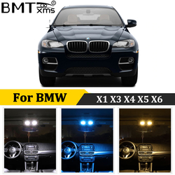 BMTxms Canbus Car LED Interior Map Dome Footwell Light Kit For BMW X1 E84 F48 X3 E83 F25 X4 F26 X5 E53 E70 X6 E71 E72