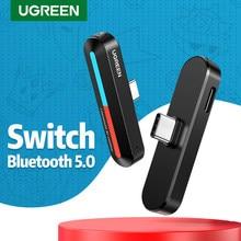 UGRREN przełącznik USB C Bluetooth 5.0 nadajnik dźwięku bezprzewodowy krótki czas oczekiwania Adapter, 18W szybkie ładowanie, dla Nintendo odbiornik z przełącznikiem