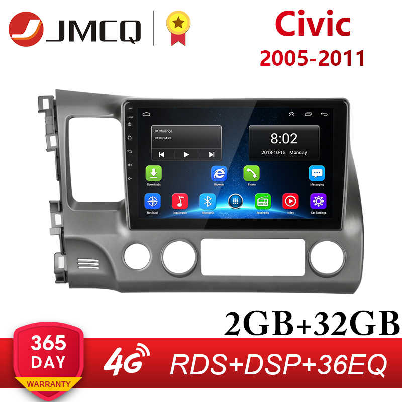 "10 ""2G 32G Android 8.1 4G Netto Wifi Rds Dsp Auto Radio Multimedia Video Player Voor honda Civic 2005-2011 Navigatie Gps Hifi"