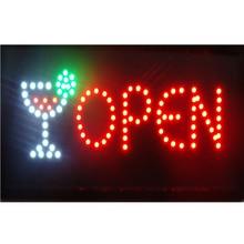 СВЕТОДИОДНЫЙ барная Питьевая магазинная открытая вывеска Горячая 10x19 дюймов полунаружный светодиодный вывеска для магазина открытая