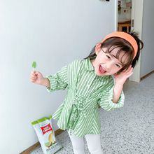 XINI MOMMY 2020 Spring Autumn Striped shirt girl blouse  toddler girl long shirt  girls blouse girls blouses toddler blouse Y116 blouse lenitif blouse