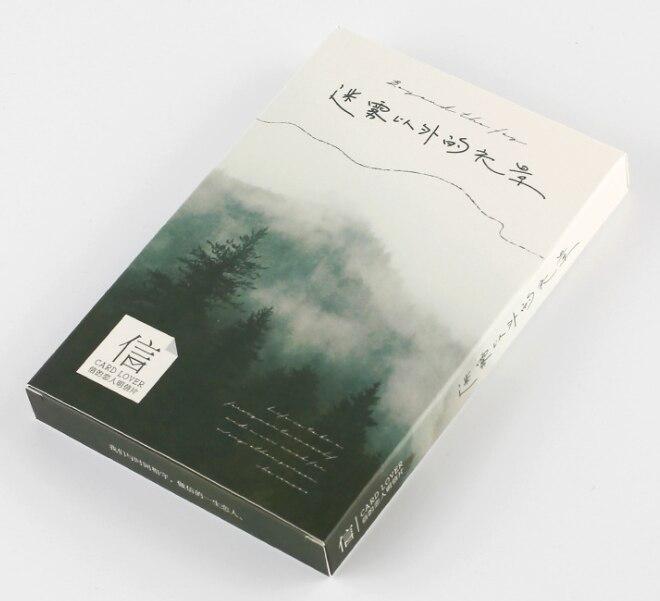 14.3cm*9.3cm Fog Landscape Paper Postcard(1pack=30pieces)