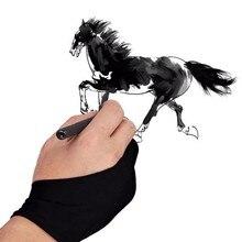 Черный 2 с защитой от отпечатков пальцев и помогает бороться, так и для правой и левой руки художник перчатка для рисования по какой-либо Графика планшет для рисования черный Размеры S, M, l Размер