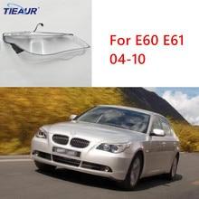Headlight Transparent Glass Lens Cover for E60 E60LCI 525 530 Headlamp Clear Shell 04-10 Replacement DIY