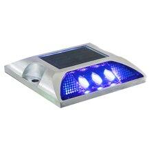 1pcs Square Aluminum Waterproof LED Solar Powered Road Stud Light Pathway Lamp Street
