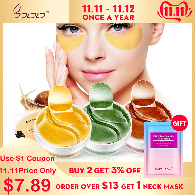 OMY LADY  60PCS Eye Patch Mask Collagen  Against Wrinkles Dark Circles Care Eyes Bags Pads Ageless Hydrogel Sleeping Gel Patches