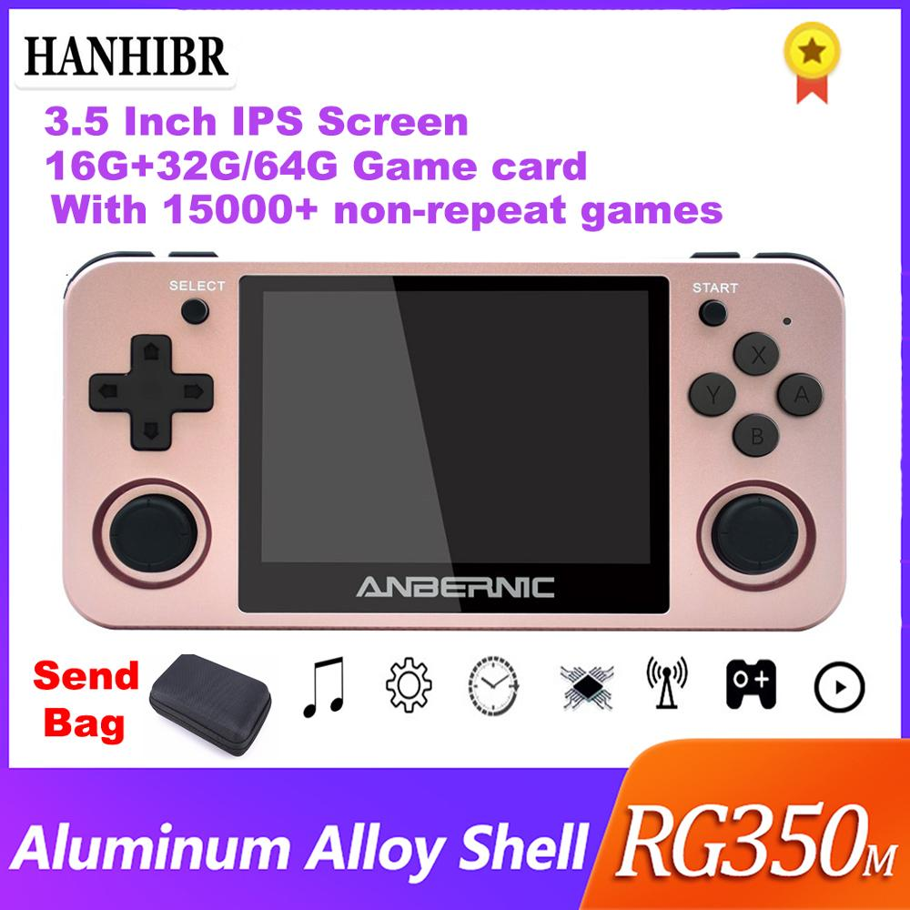 """Hanhibr RG350 Linux OS Retro Game Console Aluminum Alloy Shell 3.5"""" Full Lamination IPS Screen PS1 Emulators RG350m Game Player(China)"""