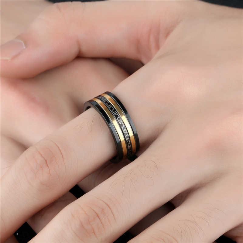 חדש זהב טיטניום פלדה Knuckle אצבע טבעת גברים אופנה טבעות תכשיטי גברים אירוסין טבעת אישיות טבעות אביזרי מתנות