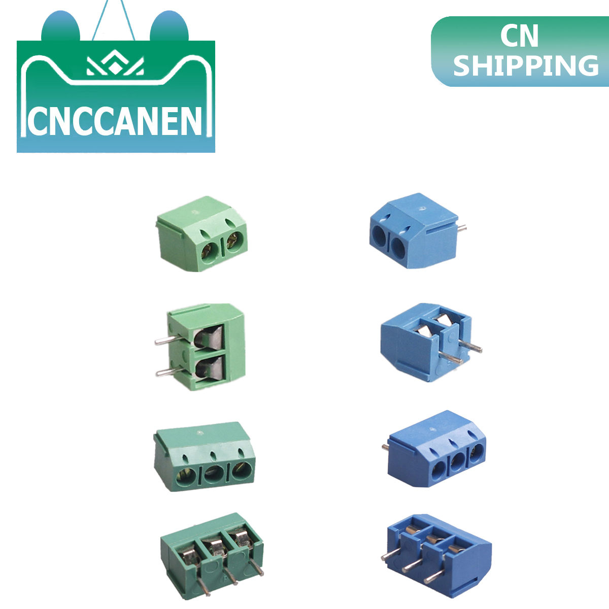 5/10/20 Pcs/lot Pitch 5.0mm Straight Pin 2P 3P Screw PCB Terminal Block Connector 10A 300V 24-18AWG