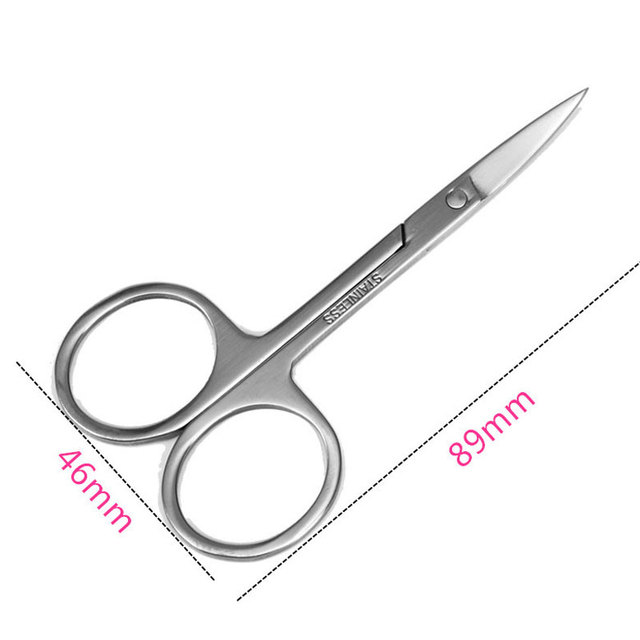 Stainless Steel Eyebrow Scissors for Women Eyelash Hair Trimmer Shaver Remover Epilator Grooming Shaping Eyebrow Makeup Tools 1