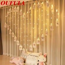 Oufula светодиодный светильник гирлянда цветные романтические