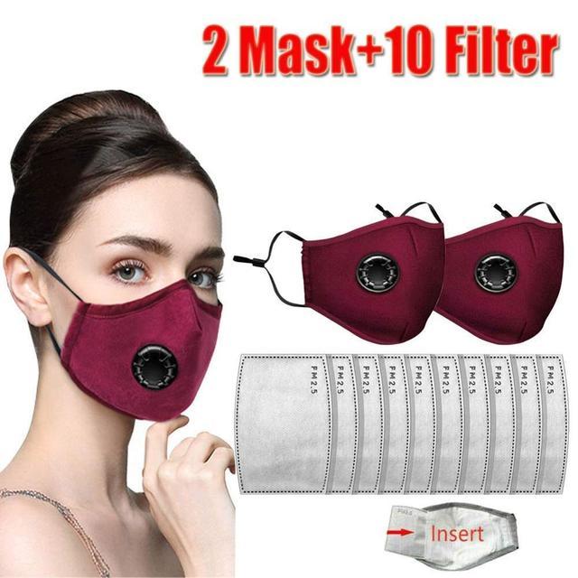 Хлопковая маска для лица PM2.5 фильтр с активированным углем для дыхательной вставки защитный моющийся чехол для рта для наружной работы