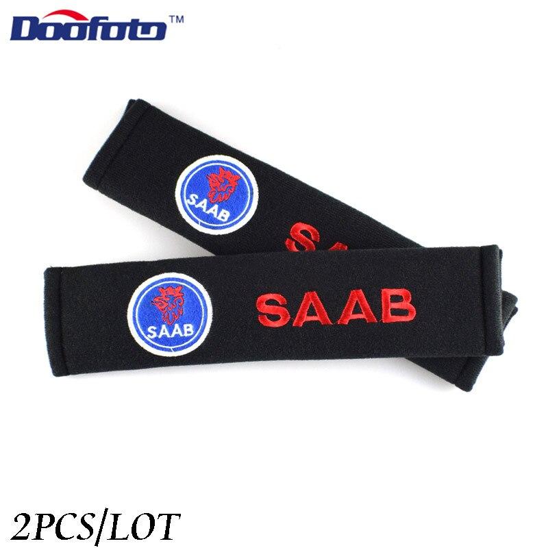Doofoto 2x Накладка для ремня безопасности автомобиля для SAAB 9-3 93 9-5 9 3 9000 9 5 Аксессуары Наплечная Защитная подкладка украшение для стайлинга авто...