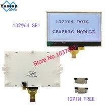 132*64 COG lcd ekran grafik modülü SPI seri 12pin FSTN gri ST7567 parlak arka ışık seri modülü LG132643 FDW