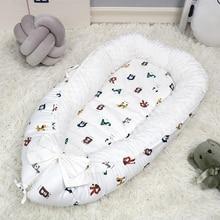 2 шт./компл. туристическая кроватка кровать для младенца вельветовые Портативный кроватки теплая дутая куртка спальную корзинку бамперов матрас с без защитного зажима для крепления съемный BTN004