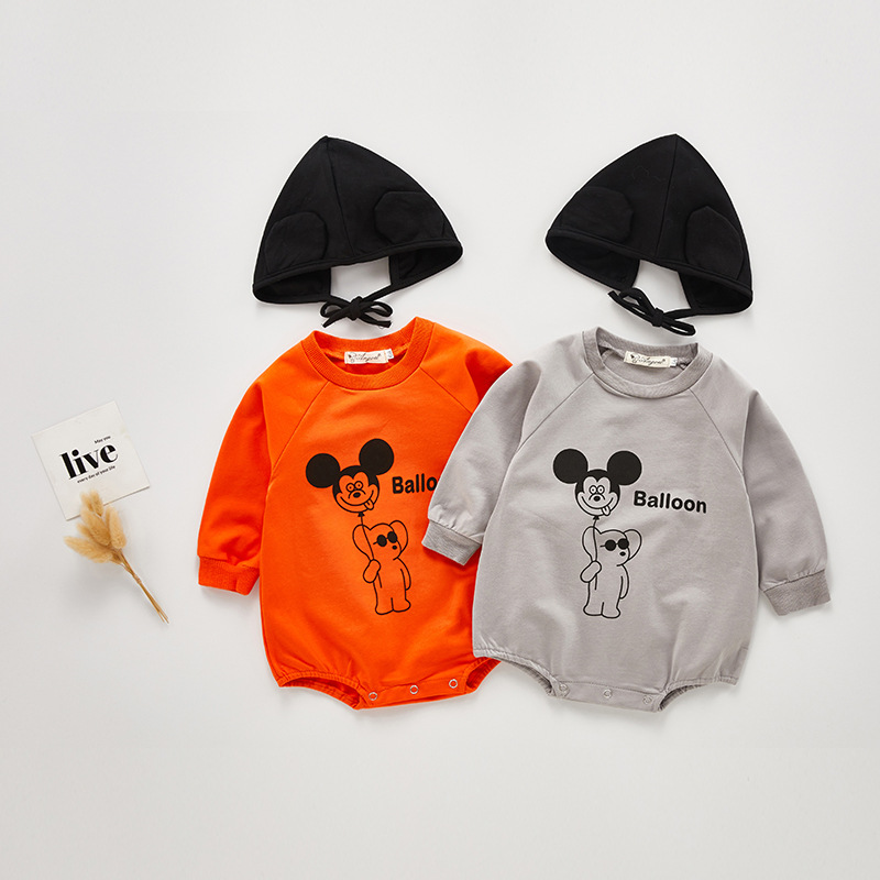 MILANCEL Baby Clothes Long Sleeve Baby Bodysuits Cartoon Style Toddler Boys Jumpsuits