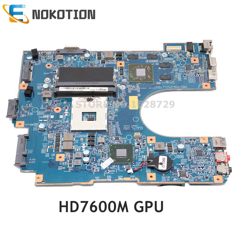 NOKOTION For SONY VAIO SVE15 VPC-EH15EC Laptop Motherboard HD7600M HM76 DDR3 48.4RM02.021 MBX-266 A1902998A A1885198A Mainboard