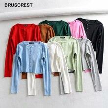 Осень 2019, кавайные укороченные кардиганы, Женский вязаный укороченный свитер, топ, розовый, черный, сексуальные свитера, милый вязаный свитер, винтажный корейский