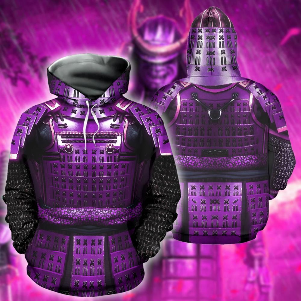 3D printed Armor Samurai Men Hoodie Harajuku Fashion cosplay Hooded Sweatshirt Street Jacket Autumn Unisex Casual hoodies