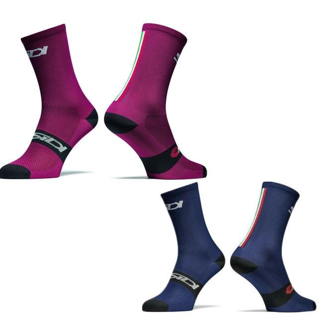 Nova edição da equipe de esportes ao ar livre bicicleta corrida sidi ciclismo meias de compressão 1