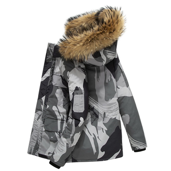 Dropshipping Winter Jacket Men White Duck Down Parkas Windproof Fur Hooded Collar Thicken Coat Thick Warm Down Jacket Male S-3XL