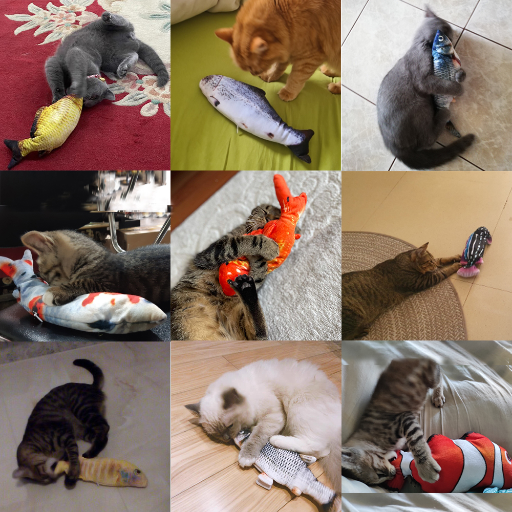 Cat Toy Fish USB Electric Charging Simulation Fish Catnip Cat Pet Chew Bite Interactive Cat Toys Dropshiping Floppy Wagging Fish