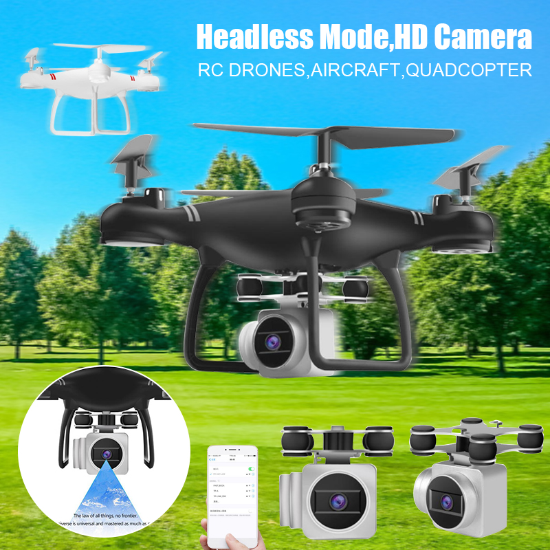 Hot Selling RC Drones Aircraft Quadcopter Headless Mode HD Camera Mobile Phone Control Toy LBV