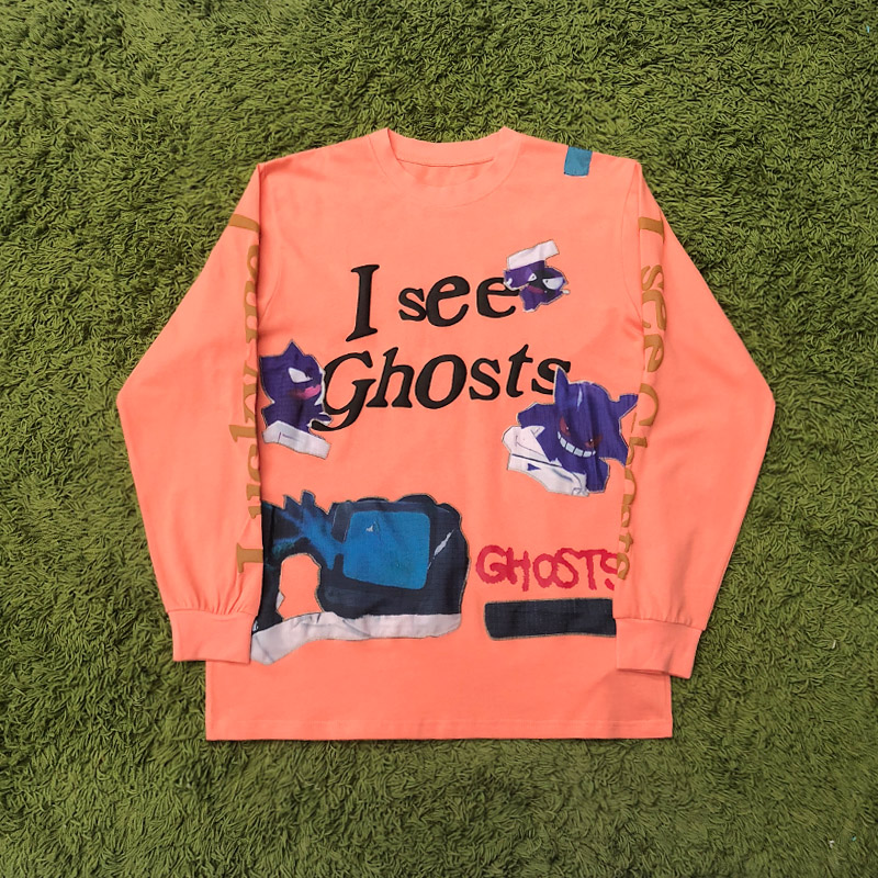 2020 New Kanye West T-shirt Men Women Long Sleeve I SEE GHOSTS Logo T-shirt KIDS SEE GHOSTS KSG Tops Kanye West Tee