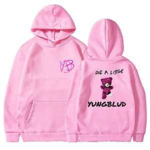 Autumn Streetwear Sweatshirt Fashion Hoodie Yungblud Print Harajuku Hooded Pullover Men Clothing Female Polyester Sportswear