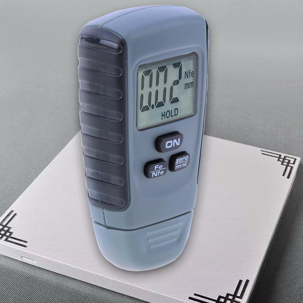 Digital RM660 Coating Thickness Gauge 0.00-1.25m Paint Coating Meter Car Thickness Meter Tester Iron Aluminum Base Metal