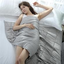 Weighted Blanket 100% Cotton Soft And Comfortable Gravity Blanket For Autism Anxiety Over-stress Relieve Anxiety Gravity Blanket